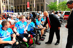 Wounded Warriors Bike Ride on July 21, 2011 (Official New York City Fire Department (FDNY)) Tags: bike brooklyn fire manhattan midtown brooklynbridge soldiers paramedics fdny firedepartment firefighters nyfd emts woundedwarriors