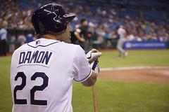 Damon On Deck (Joseph Maddon) Tags: sports st tampa bay baseball florida petersburg fl rays pastime beisbol
