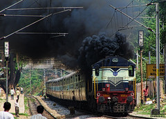 ALCO Doing what it Does Best (Dheeraj Clickr Rao) Tags: train locomotive alco indianrailways wdg3a locosmoke