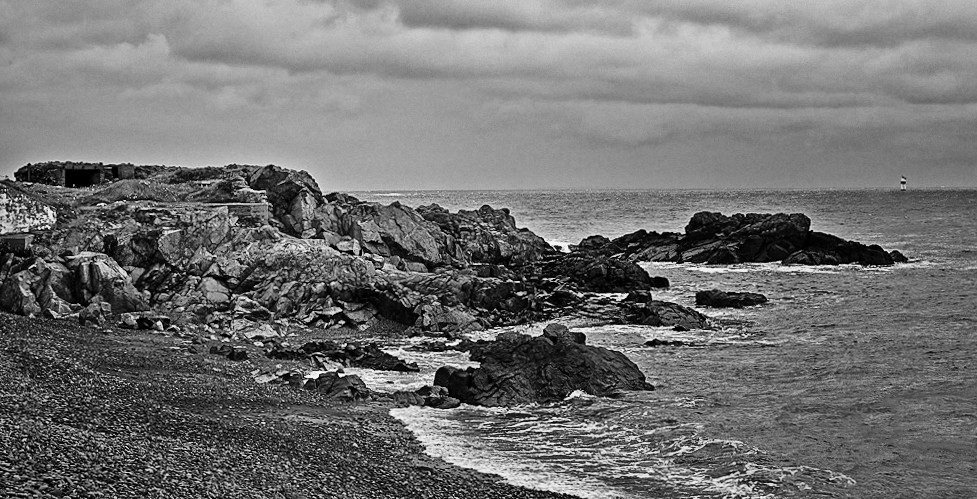 The Winch by the Sea (B&W)
