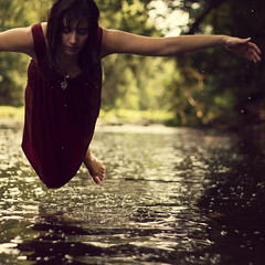 365/198 - Over Water (RachelMarieSmith) Tags: selfportrait water photography flying floating levitation