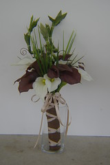 RBH Bridal Bouquet (elitedesignsbydaphne) Tags: brown ivory bamboo zen bouquet bridal callalily boutonniere chocolatecallalily