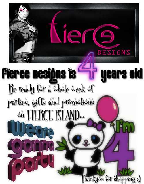 Fierce Designs 4th Birthday Poster