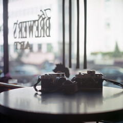 (patrickjoust) Tags: leica city urban usa color art 120 6x6 tlr film bar analog rolleiflex zeiss america square lens table us reflex md brewers focus mt mechanical minolta united north patrick twin maryland baltimore mount v pro epson medium format konica states manual 500 expired 80 joust vernon m2 f28 m4 220 planar estados 160 80mm artscape nerdiness c41 centuria unidos 2011 28f franke v500 autaut heidecke patrickjoust