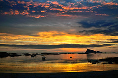 Midnight at Sommary (John A.Hemmingsen) Tags: sunset sky sun seascape reflection nature clouds norge nikon nordnorge troms sommary skytheme theme sky nikkor1685dx nikond5000