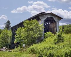 Fisher Bridge, Wolcott, Vermont (philhaber) Tags: railroad bridge usa river vermont covered wolcott stjohnsbury lamoille