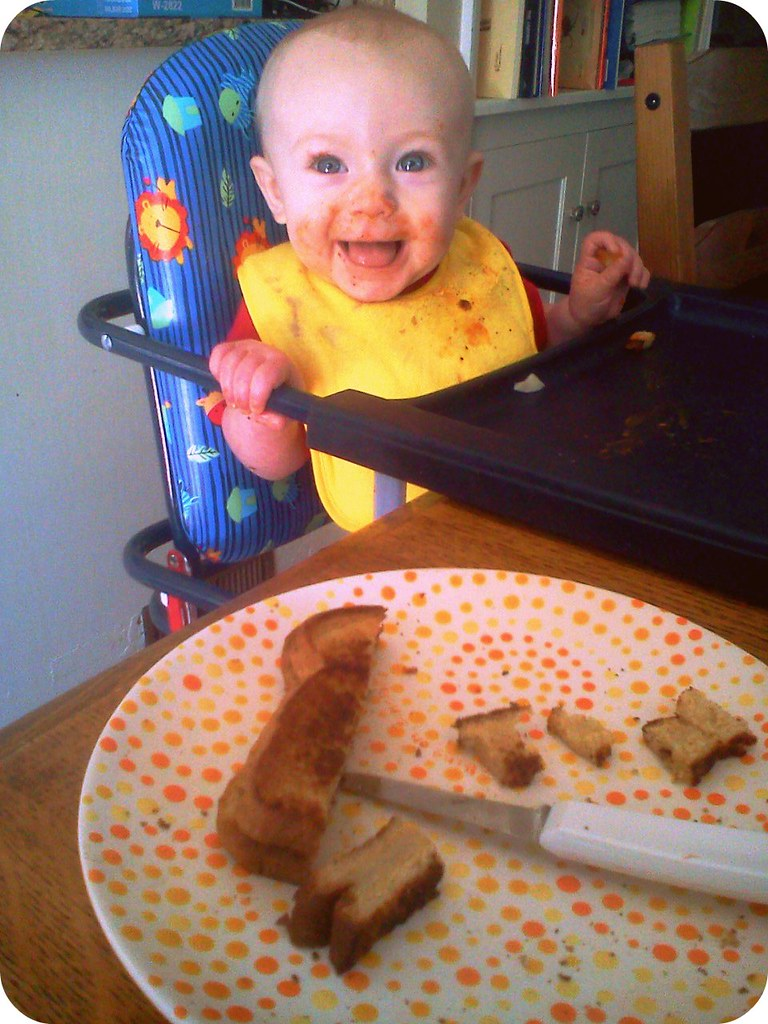 Apparently Elliora likes grilled cheese & tomato soup.