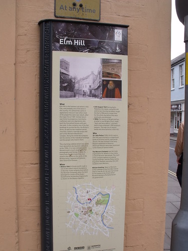 Elm Hill, Norwich - historical sign