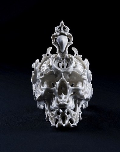 Ceramic Skulls by Katsuyo Aoki