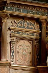 Harsleben, Sachsen-Anhalt, Simon- und Judaskirche, pulpit, detail (groenling) Tags: wood germany de deutschland carving altar holz pulpit woodcarving intarsia inlay sachsenanhalt kanzelaltar harsleben kedding simonundjudaskirche