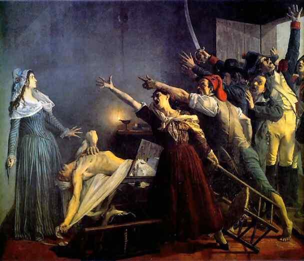 L'Assassinat de Marat, Jean-Joseph Weerts (1880)