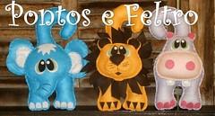 Feltro - Safari - cd 17 (Pontos e Feltro - Artesanato) Tags: de feltro bichos maaneta