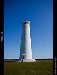 Garoskagaviti lighthouse (Andreas Gerber) Tags: blue white canon faro island eos iceland flickr blu andreas bianco gerber islanda weisse 50d