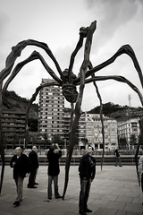 Maman, by Louise Bourgeois (koalie) Tags: people sculpture spider bilbao maman tedguild olivierthéreaux mybw dougschepers bylouisebourgeois 201105bilbao carlcargill