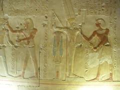 Min and Seti I (konde) Tags: chapel min amon amun abydos newkingdom 19thdynasty