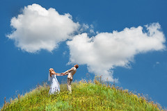 Creation of clouds ([]NEEL[]) Tags: wedding sky clouds couple shiny pair ukraine kharkiv        platinumheartaward