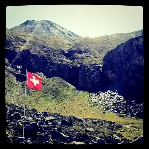 Swiss Flag by Davide Restivo