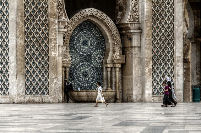 Those who submit at Hassan II Mosque