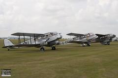 G-ECAN & G-AGJG & EI-ABI - De Havilland Australia DH-84A Dragon 3 & De Havlliand DH-89A Dragon Rapide De Havilland DH-84 Dragon 2 - 110710 - Duxford - Steven Gray - IMG_5429