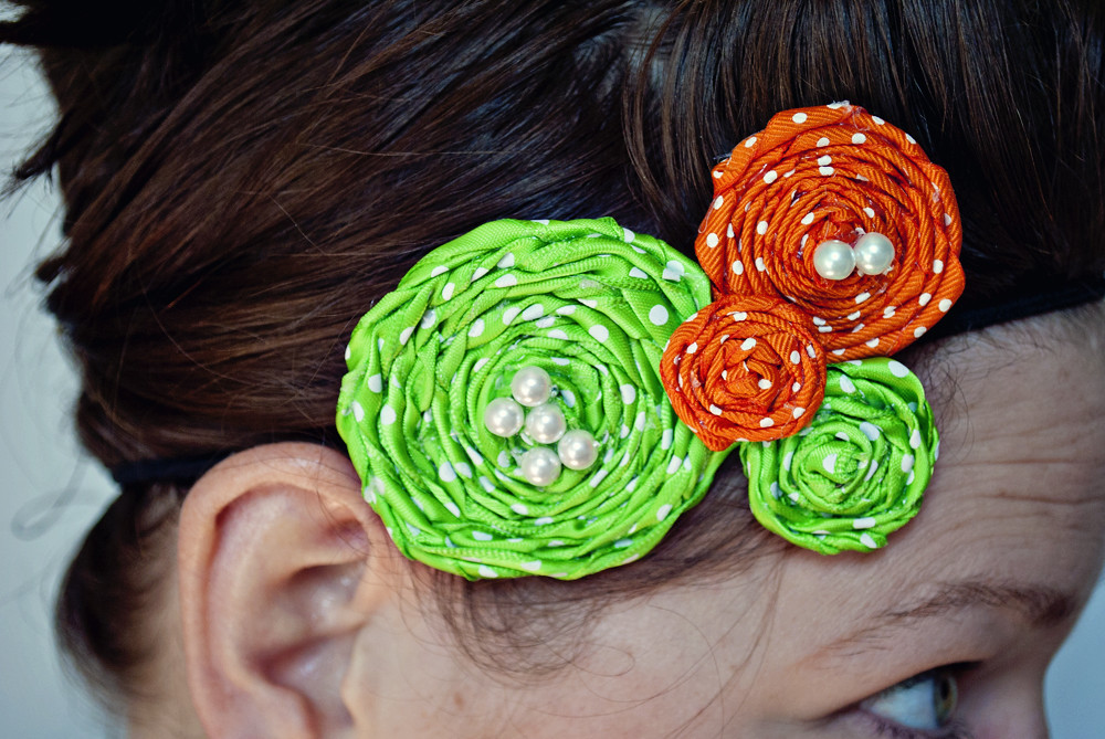 Green and Orange Rosette 1