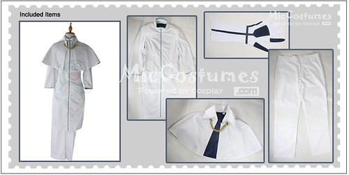 Bleach Uryuu Ishida Mens Cosplay Costume detail