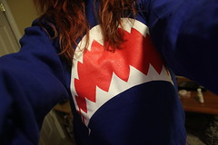 Baby there's a shark in the water. (tr4sh3d) Tags: birthday blue girls red white green photography sweater pretty sweaters hill picture