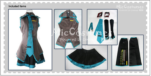 Vocaloid Hatsune Miku Cosplay Costume detail
