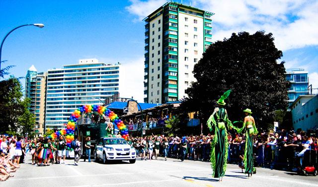 Cabalgata del orgullo gay en Vancouver