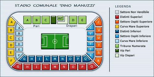 Stadio Dino Manuzzi: Mappa / Suddivisione settori