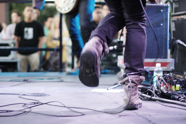 dancing shoes on stage