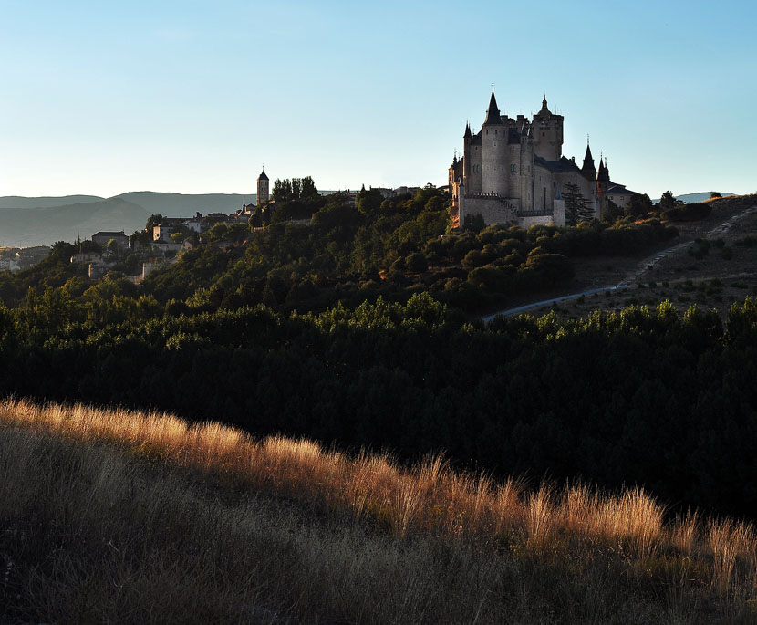 Segovia castle, early morning.