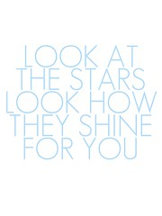 look at the stars printable_blue