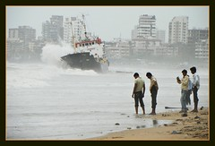 MT Pavit at Juhu Versova beach (Indianature SU) Tags: sea india beach ship august bombay maharashtra mumbai seashore juhu monsoons silverbeach arabiansea juhubeach versova 2011 shipaground versovabeach indianature pavit snonymous mtpavit