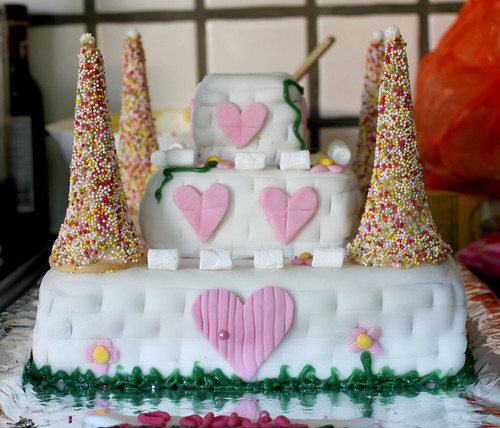 Princess Castle Cake - almost done