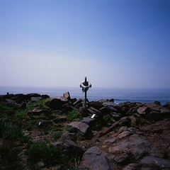 Cross, Lobster Cove (eloquentlight) Tags: maine velvia100f hasselblad903swc lobstercove monheganislandmaine
