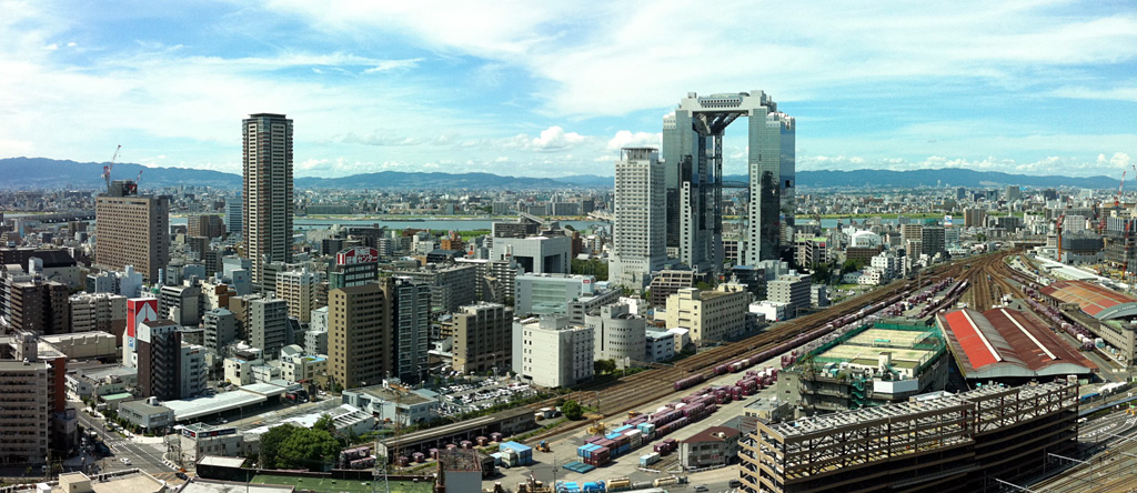panorama view of north of Umeda, Osaka