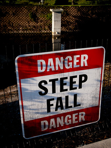 Danger - Steep Fall