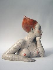 (Melanie Bourget) Tags: sculpture woman art ceramic femme clay raku argile buste