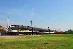 Eastbound NS Office Car Special Passenger Train at East St. Louis, IL (Mo-Pump) Tags: railroad train locomotive railfan railroader