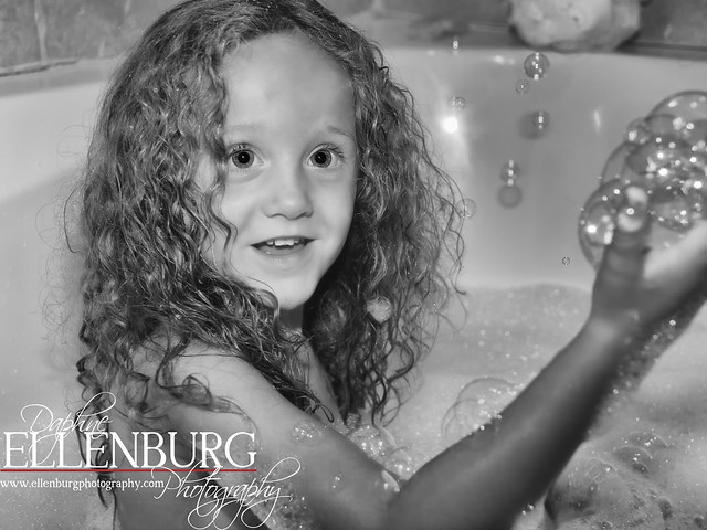 32/52 Bath Time is my Favorite time of day! BW