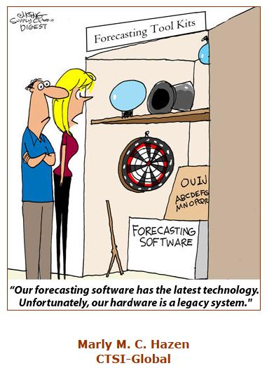 Forecasting Software cartoon caption