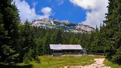 A short hike in the area of Rax (Vestaligo) Tags: blue sky mountain alps clouds forest geotagged austria rocks himmel wolken alpen blau wald berghütte loweraustria alpinehut