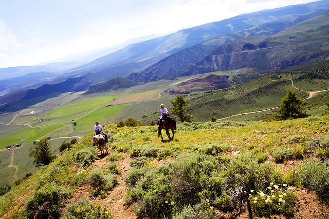 Black Mountain Colorado Dude Ranch vista view mountain mountains horses