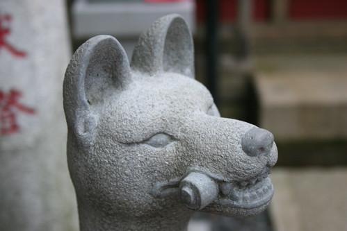 Fox sculpture, detail