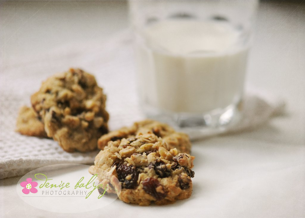 Homemade chocolate chip cookies and milk.
