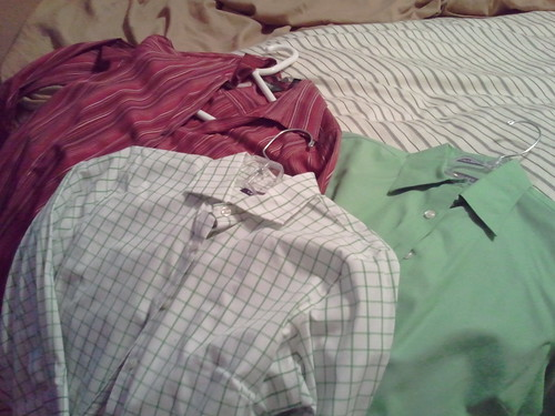 Just a few of the dress shirts I'm getting rid of..