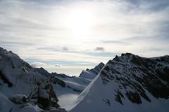 Halfway Mnch (wortel.) Tags: panorama sun white mountain mountains alps switzerland suisse mountaineering bergen alpen wit zon alpinisme mnch berneroberland alpinism zwitserland fiescherhorn 4000m