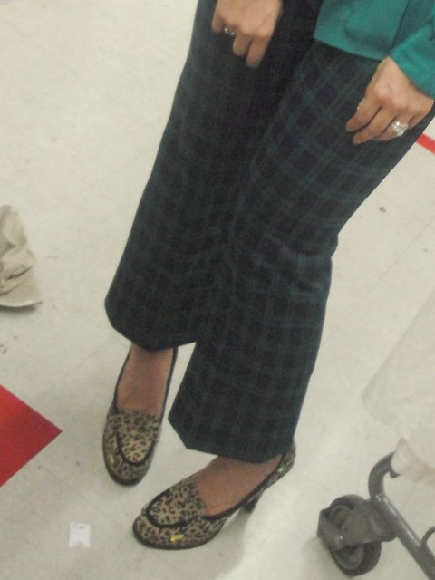 Plaid pants Loafers