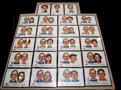 caricatures for Polymet with frames