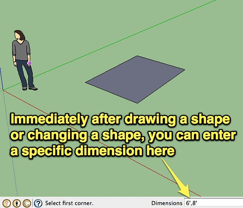 Specific dimensions in Google SketchUp